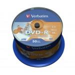 Verbatim DVD-R 4.7GB 16x Disc (50 db / csomag)
