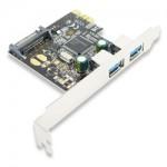 USB 3.0 kártya PCI-e (2 port) (FG-EU305A-2-BC01)