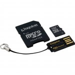 Kingston 16GB microSDHC CL10 + Adapter + Reader
