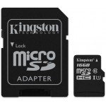 Kingston 16GB microSDHC UHS-I CL10 + Adapter