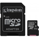 Kingston 128GB microSDXC UHS-I CL10 + Adapter