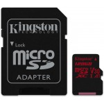 Kingston 128GB microSDXC UHS-I U3 CL10 + Adapter