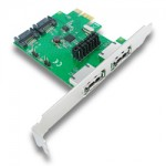 SATA kártya PCIe (2 port)