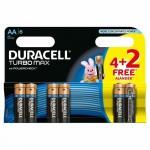 Duracell Turbo Max Duralock Elem AA (4 + 2 db)